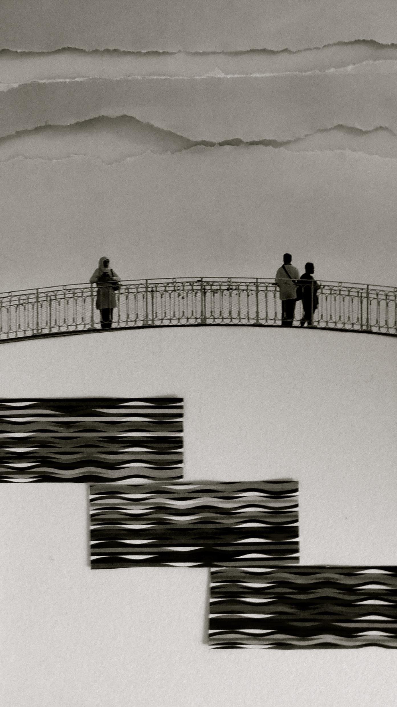Reflejos de Agam Boceto Collage Cryp bn
