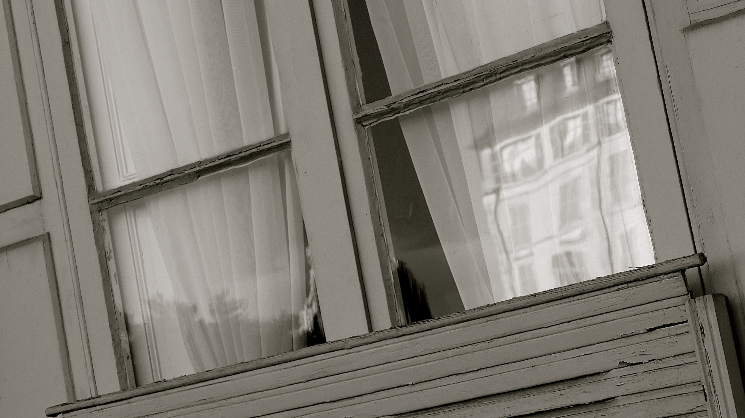 Pau. La Justicia reflejada ventana