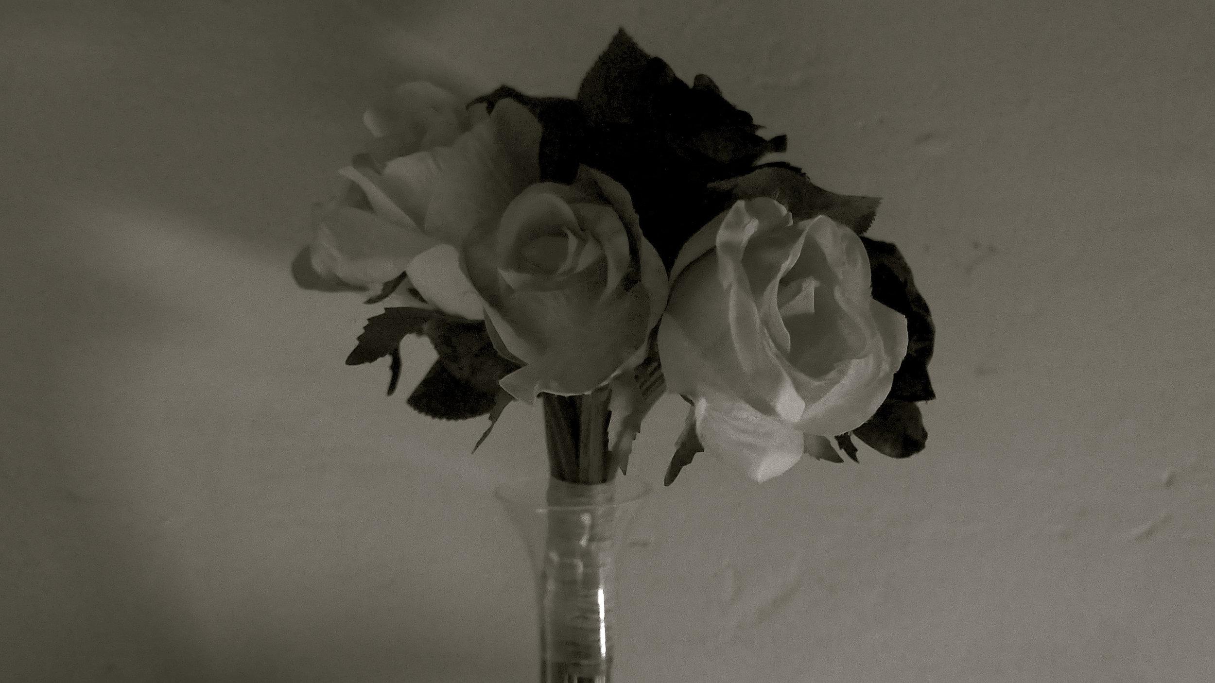 Flores y vaso La Casona - 1