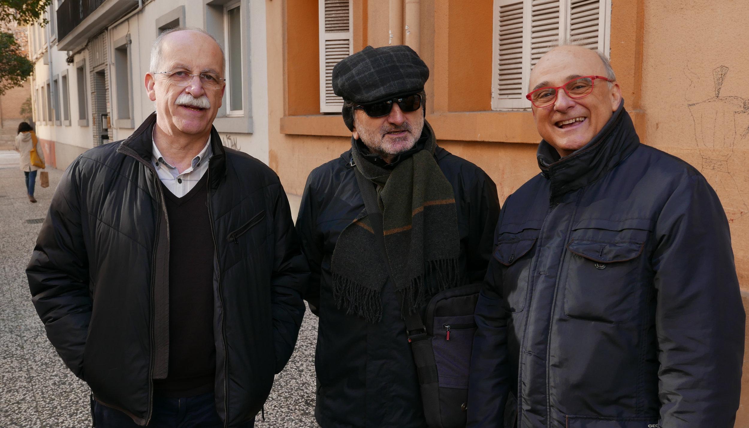 Pepe R. Tomás B y Alfonso I por la derecha