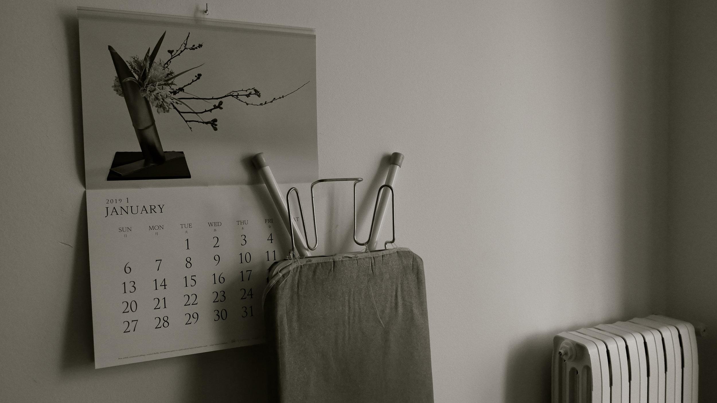 Calendario Tabla planchar