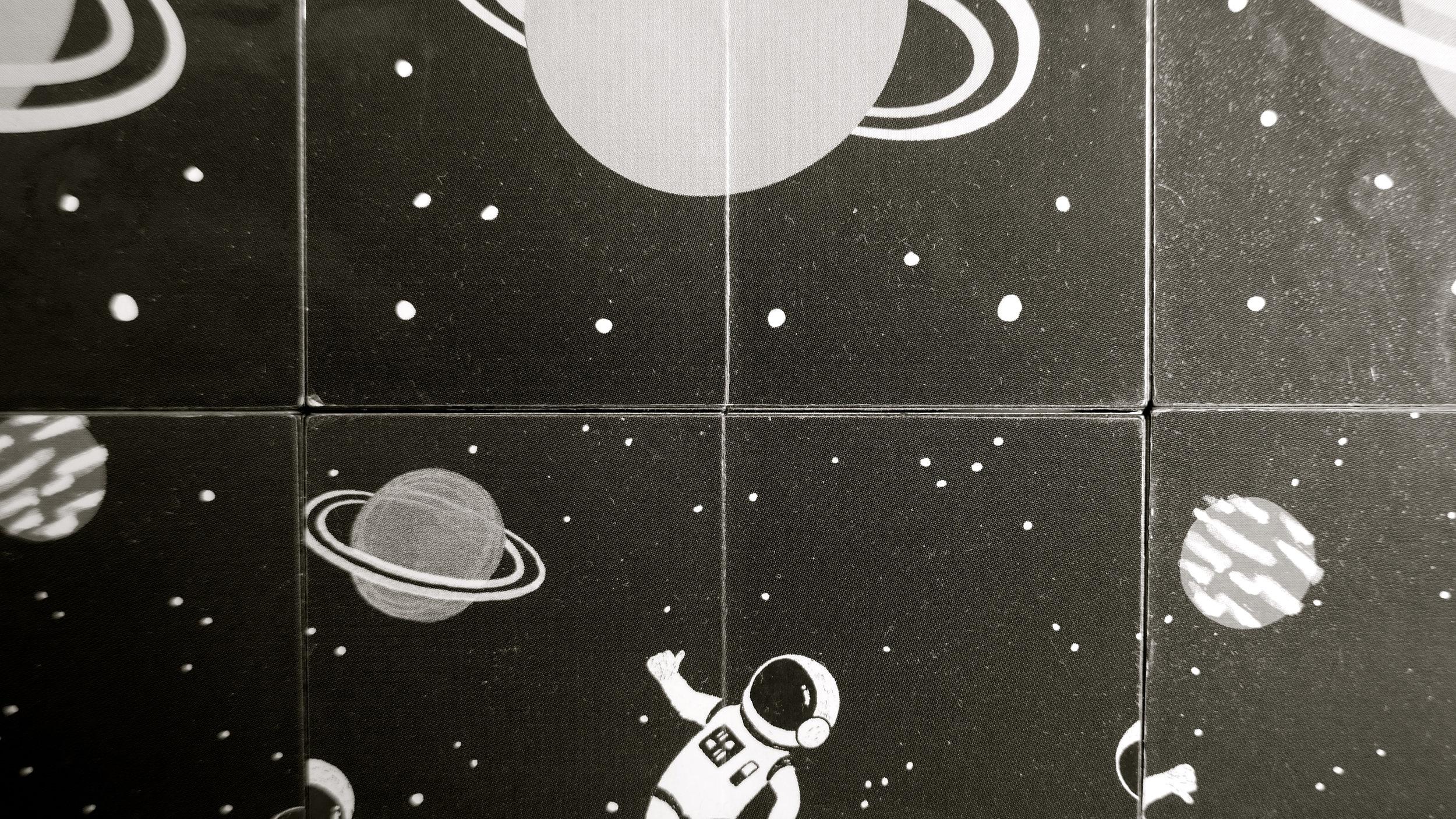 Astronautas rompecabezas articulado - 2