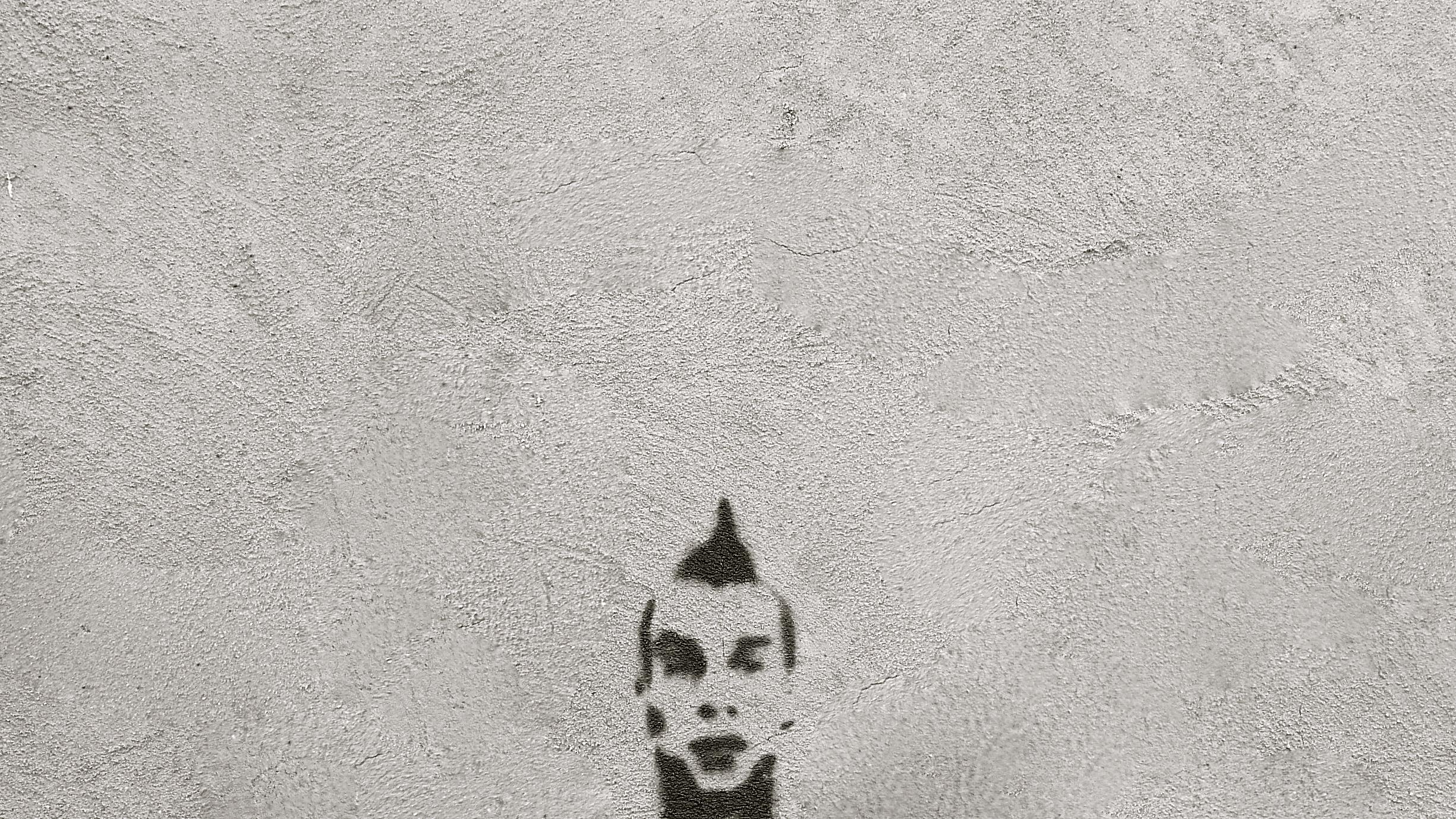 Graffiti stencil cabeza cresta