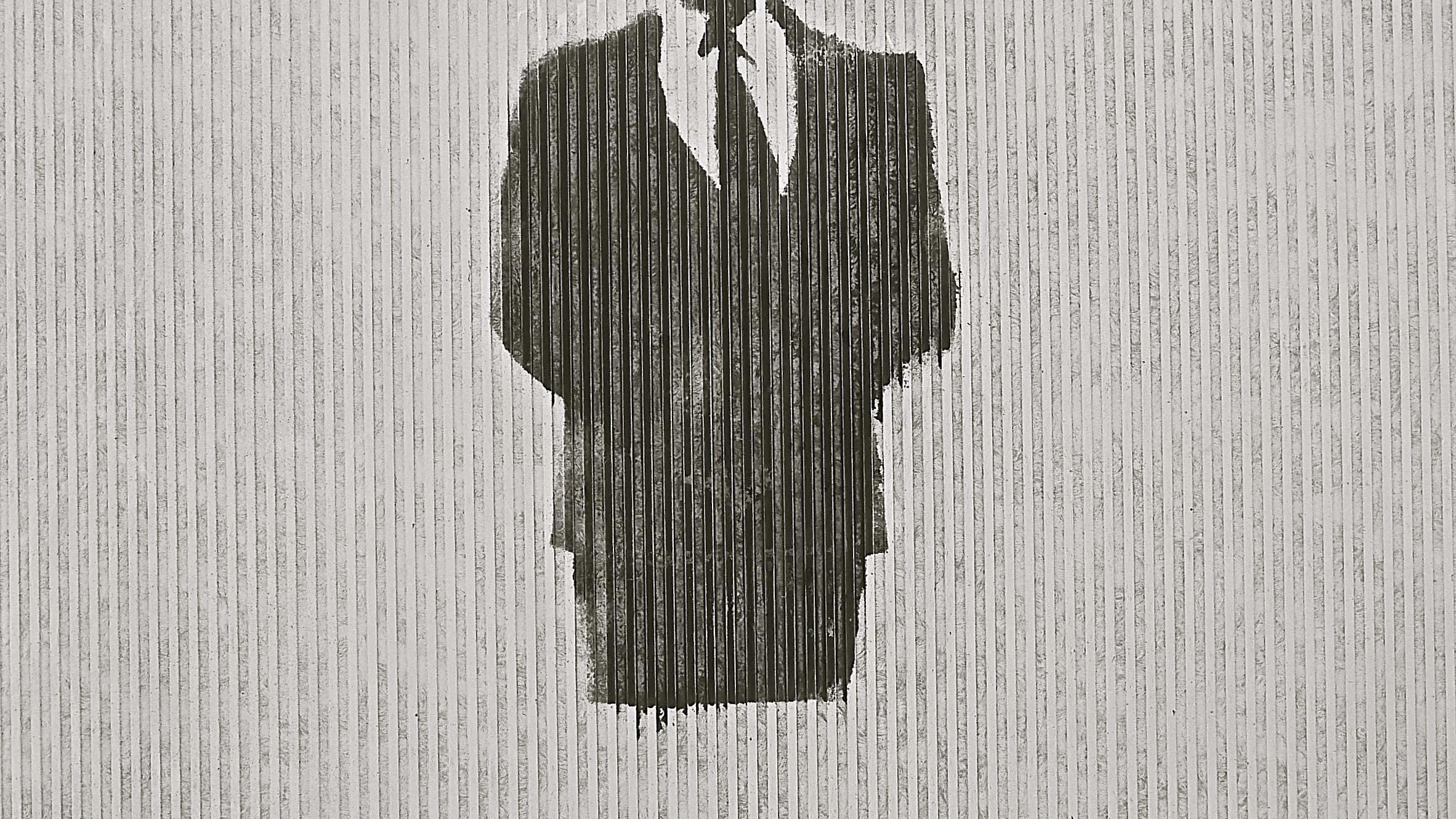 Graffiti stencil medio cuerpo corbata