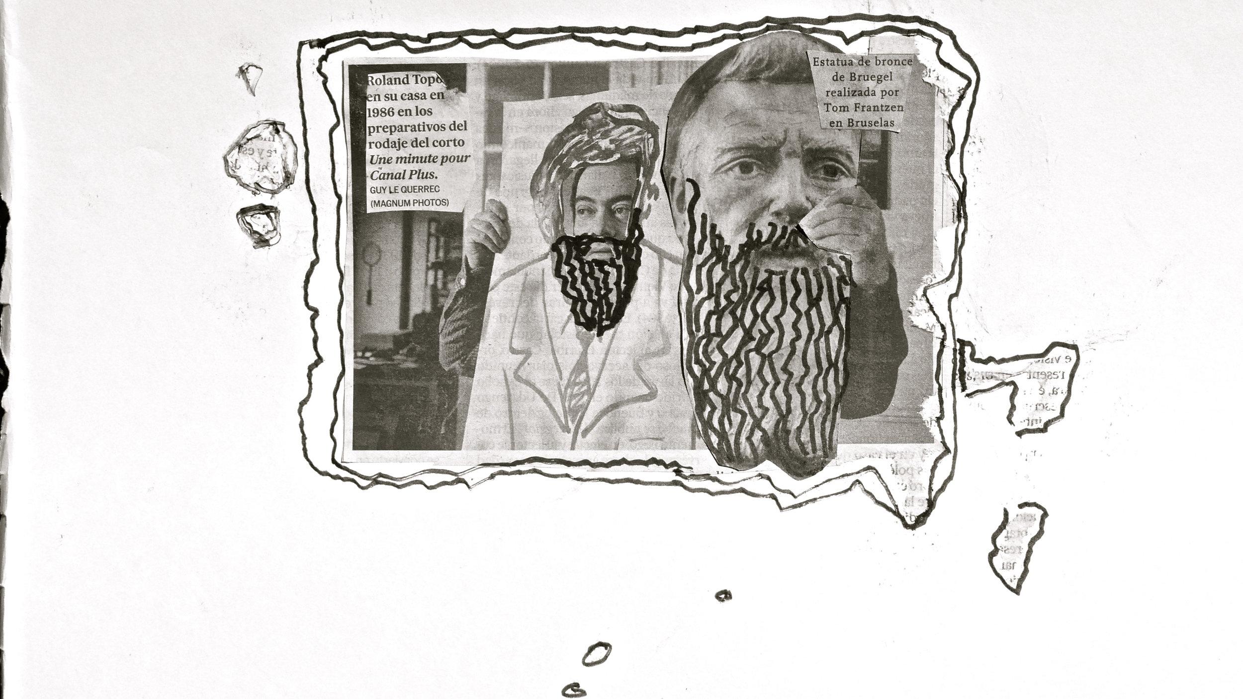 Barbarismus 6 Roland Toport Brueguel por Tom Frantzen Collage Cryp.