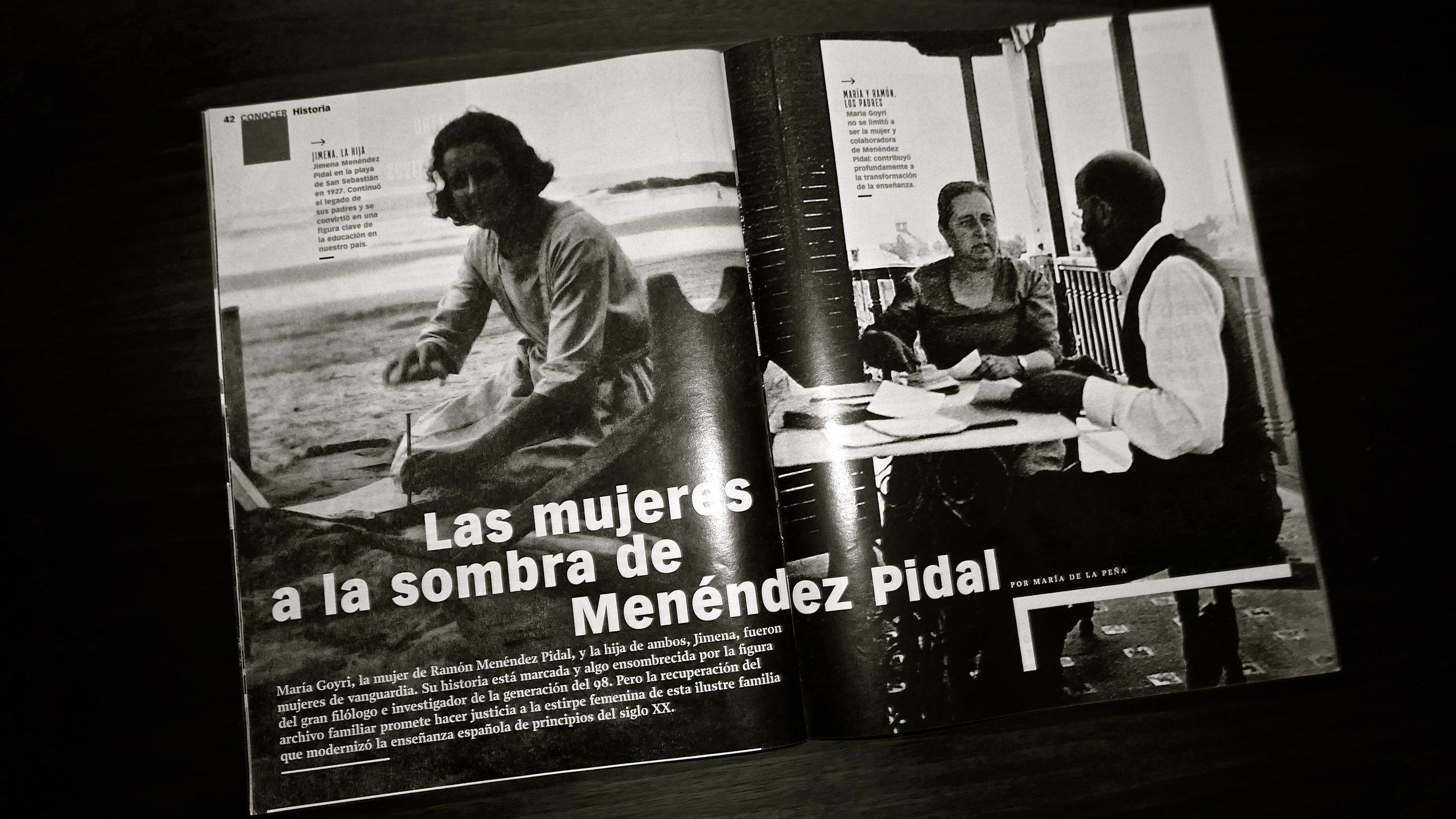 Las mujeres a la sombra de Menéndz Pidal bn