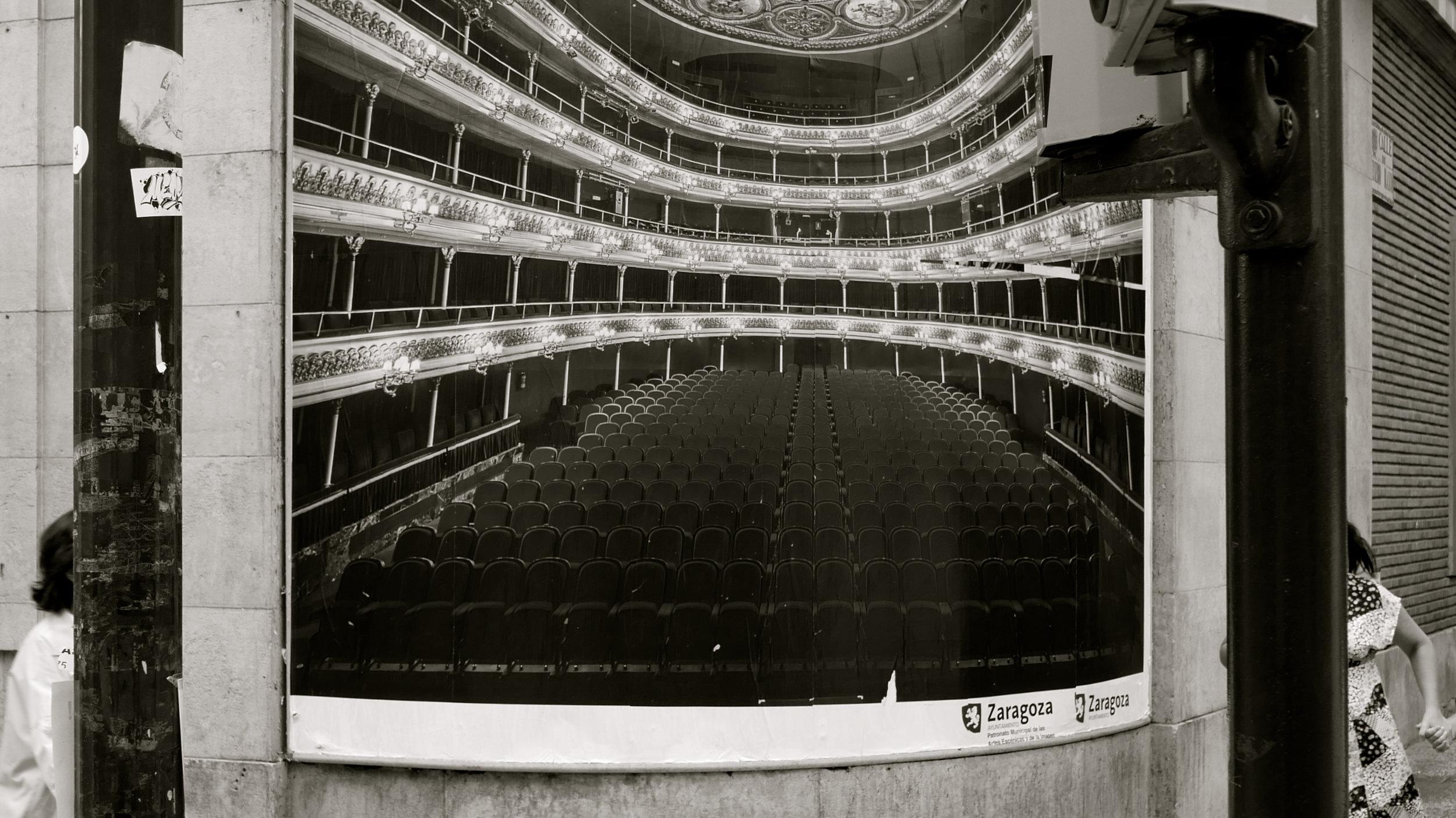 Cartel Foto interior Teatro Principal