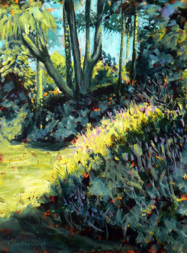 Bodnant Gardens in acrylics
