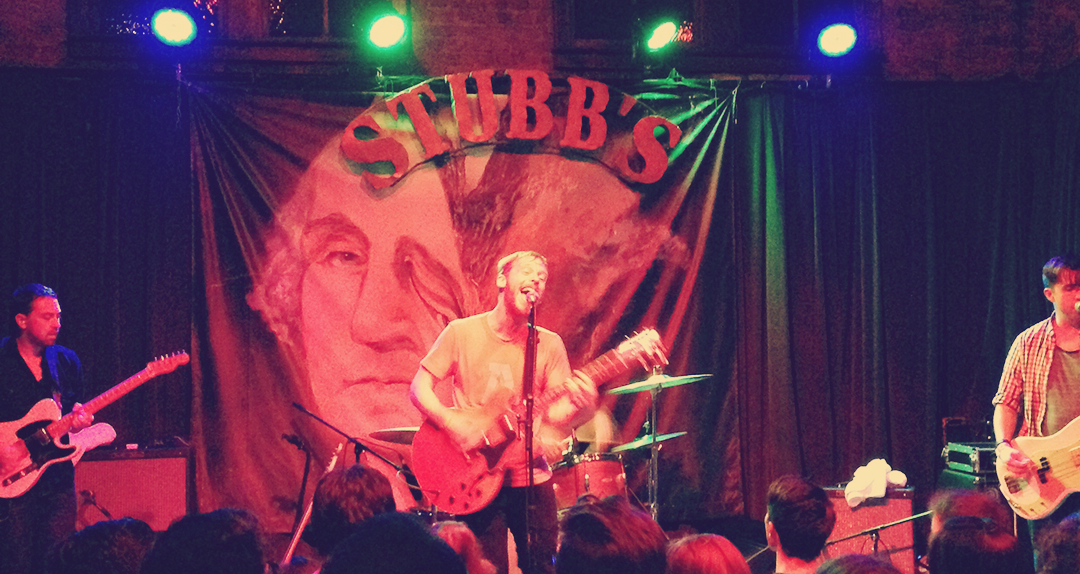 Kevin Devine and the Goddam Band performing at Stubbs - Austin, TX -11/5/2013