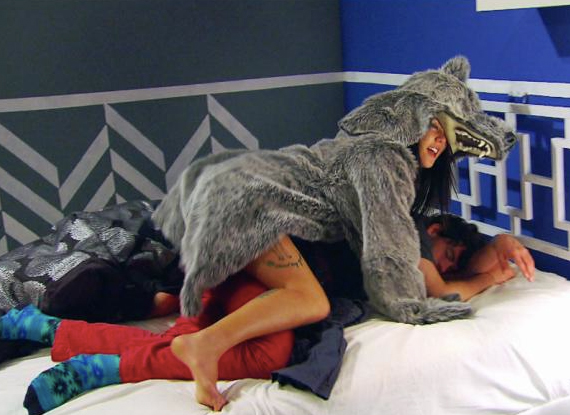 Somehow Jaime is involved in wearing a wolf suit, mounting a passed out boyfriend and I got zero points for this. Rules need amending.