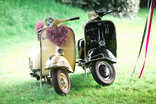 Vintage vespa scooters from Virginias Vintage hire