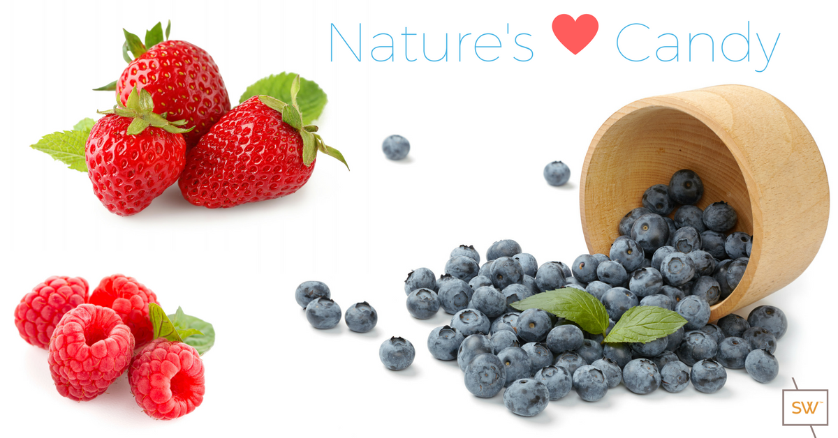 Nature's Candy - blueberries, strawberries and raspberries