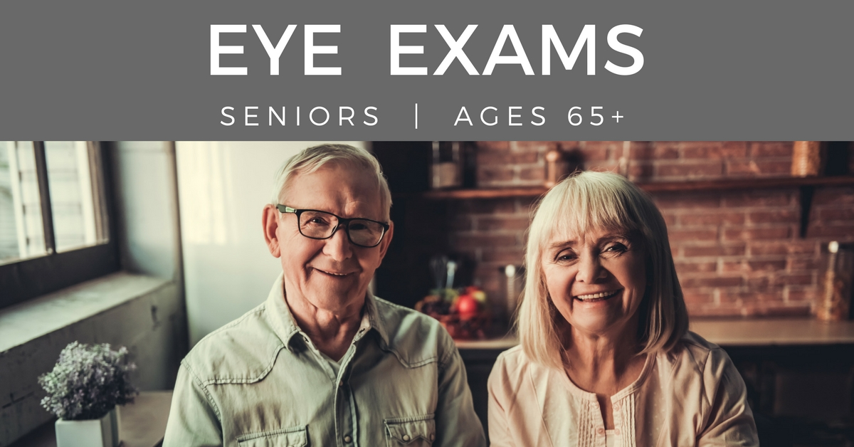 Eye exams seniors - couple together