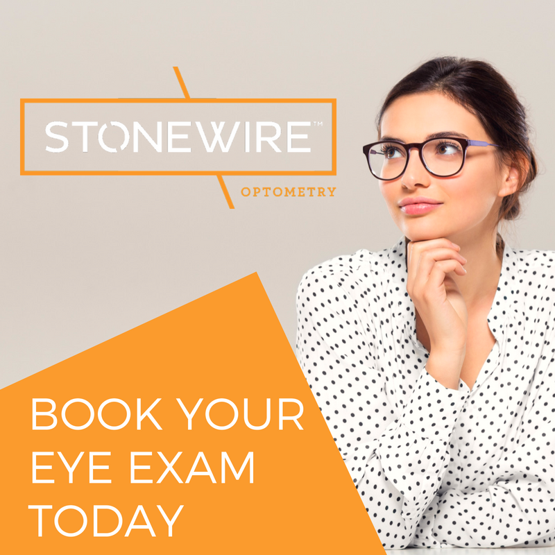 Click through link: book your eye exam at stonewire optometry in kingsway mall