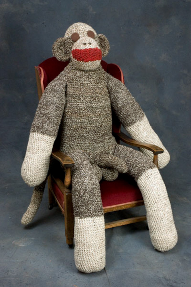 Mister Johnson, the life-sized, anatomically correct sock monkey