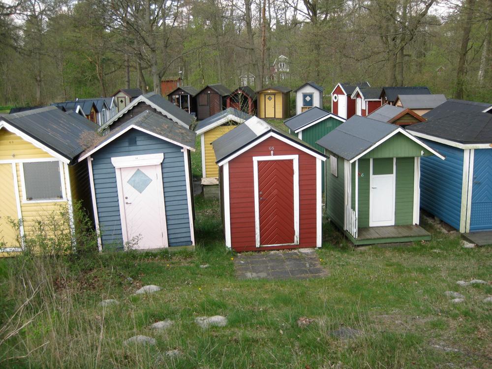 Stugas along the water in Ystad, Sweden