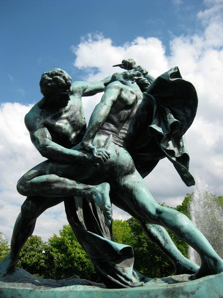 Bältesspännarna  (the tied knife wrestlers) by Johan Peter Molin