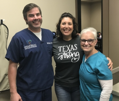 At the dentist office with Dr. Lankford and Cindy! Love them!