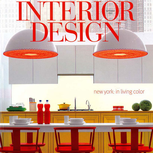 """Interior Design Magazine  """"Mover Shaker, Master Planner"""" 2010 New York"""