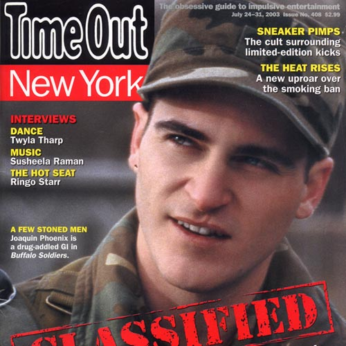 """Time Out New York  """"Resolution in Site"""" 2003 New York"""