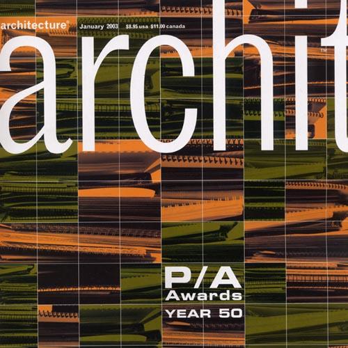 """Architecture  """"50th Anniversary Progressive Architecture Award Citation"""" 2003"""