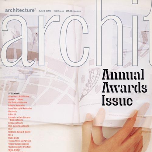 """Architecture  """"1999 Progressive Architecture Award Citation"""" 1999"""