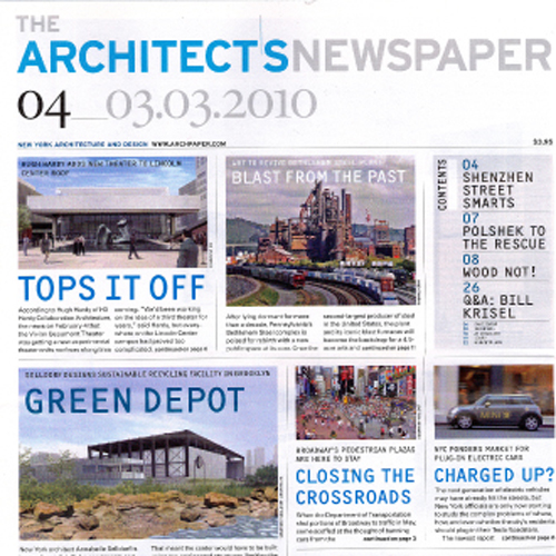 "The Architects Newspaper  ""Emerging Voices"" 2010 New York"