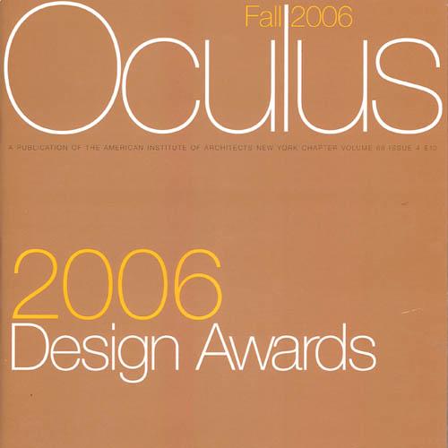 """Oculus 2006 Design Awards  """"Loeb Apartment, Miami FL"""" Vol. 68, No. 4 2006"""