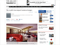"The Age  ""The World's Best Airport Business Lounges"" September 26, 2013"