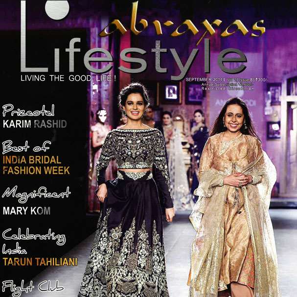 "Abraxas Lifestyle Magazine  ""Luxury Design Flight Club"" September 2014 India"