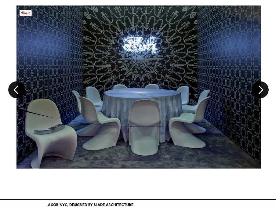 "Architectural Digest  ""Dining by Design"" March, 2014"