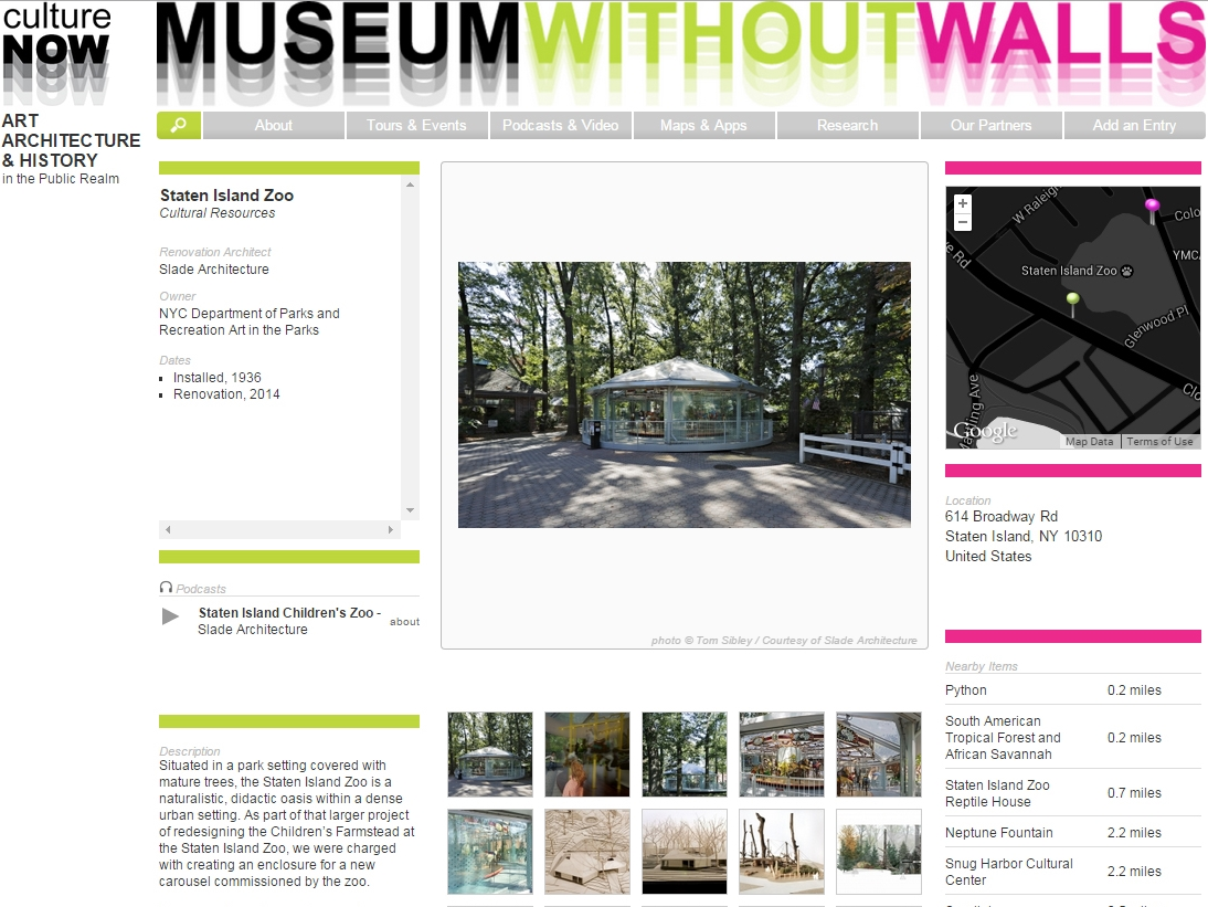 "cultureNOW Museum Without Walls  ""Staten Island Zoo"" June 03, 2015"