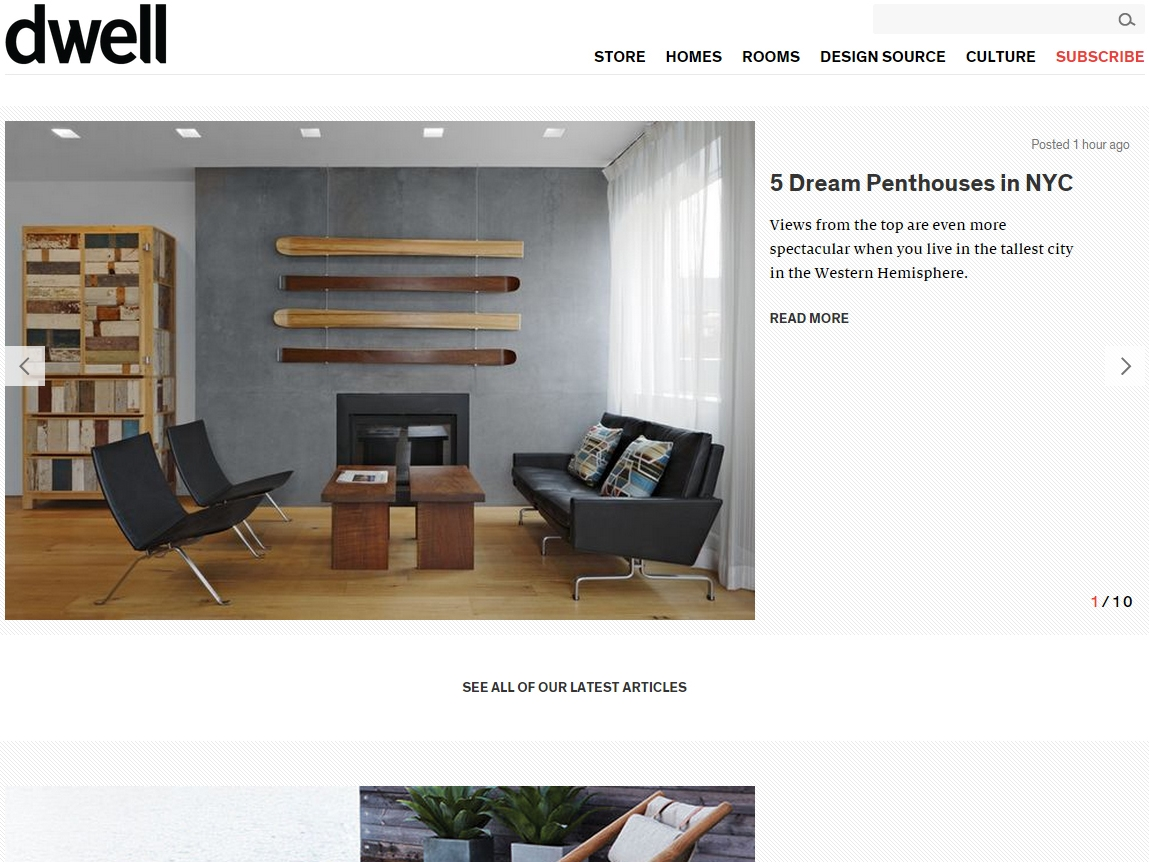 "Dwell  ""5 Dream Penthouses in NYC"" June 04, 2015"