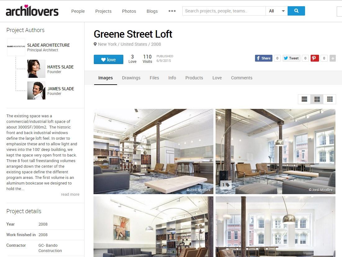 """Archilovers  """"Slade Architecture"""" June 09, 2015"""