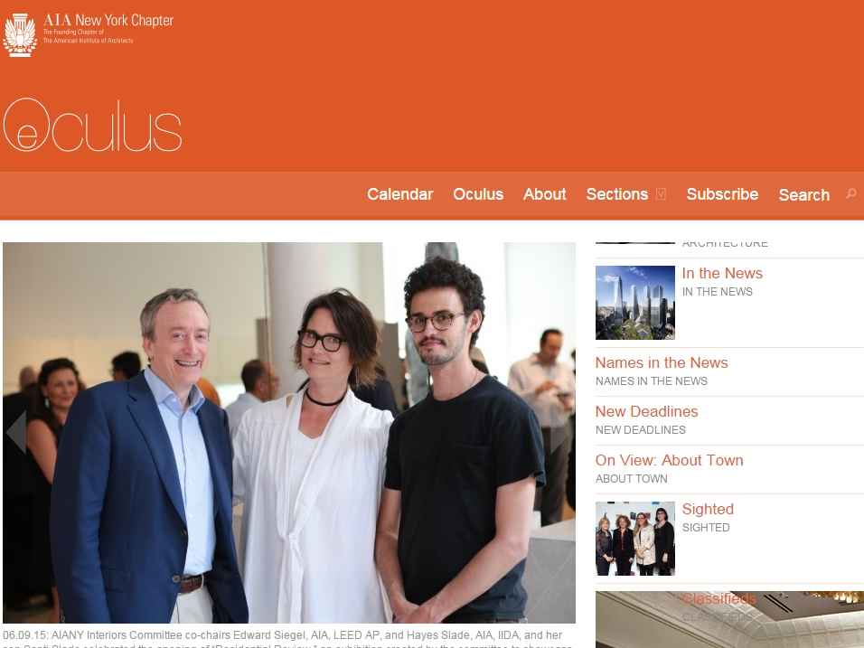 "Oculus  ""Sighted: Residential Review"" June 09, 2015"