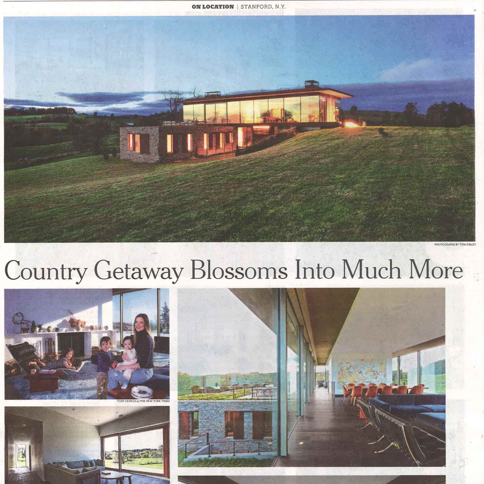 "New York Times  ""Country Getaway Blossoms Into Much More"" 2019 U"