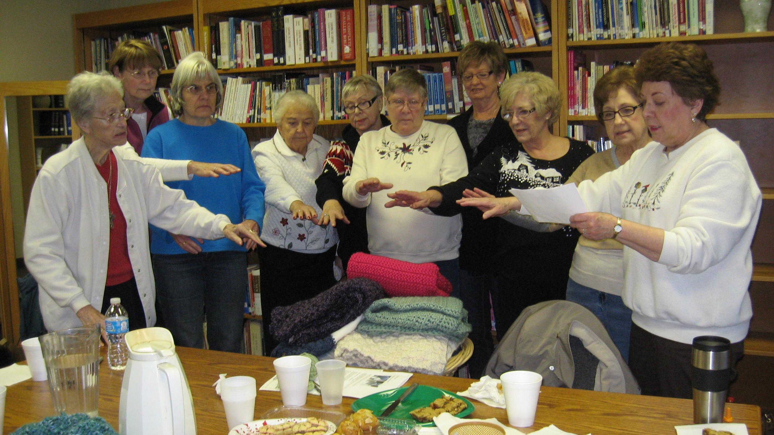 Blessing the Prayer Shawls