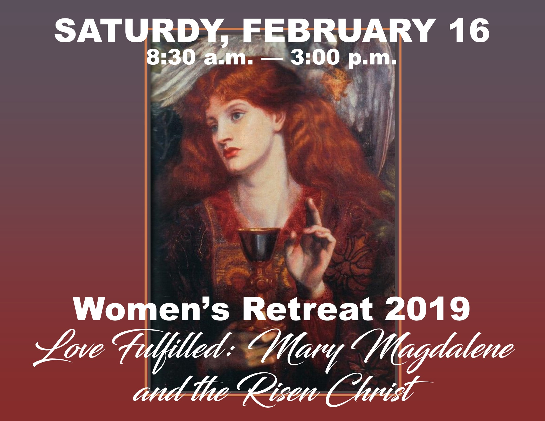 Retreat led by Fr. Steve McMichael at Risen Savior. Cost: $35/person.