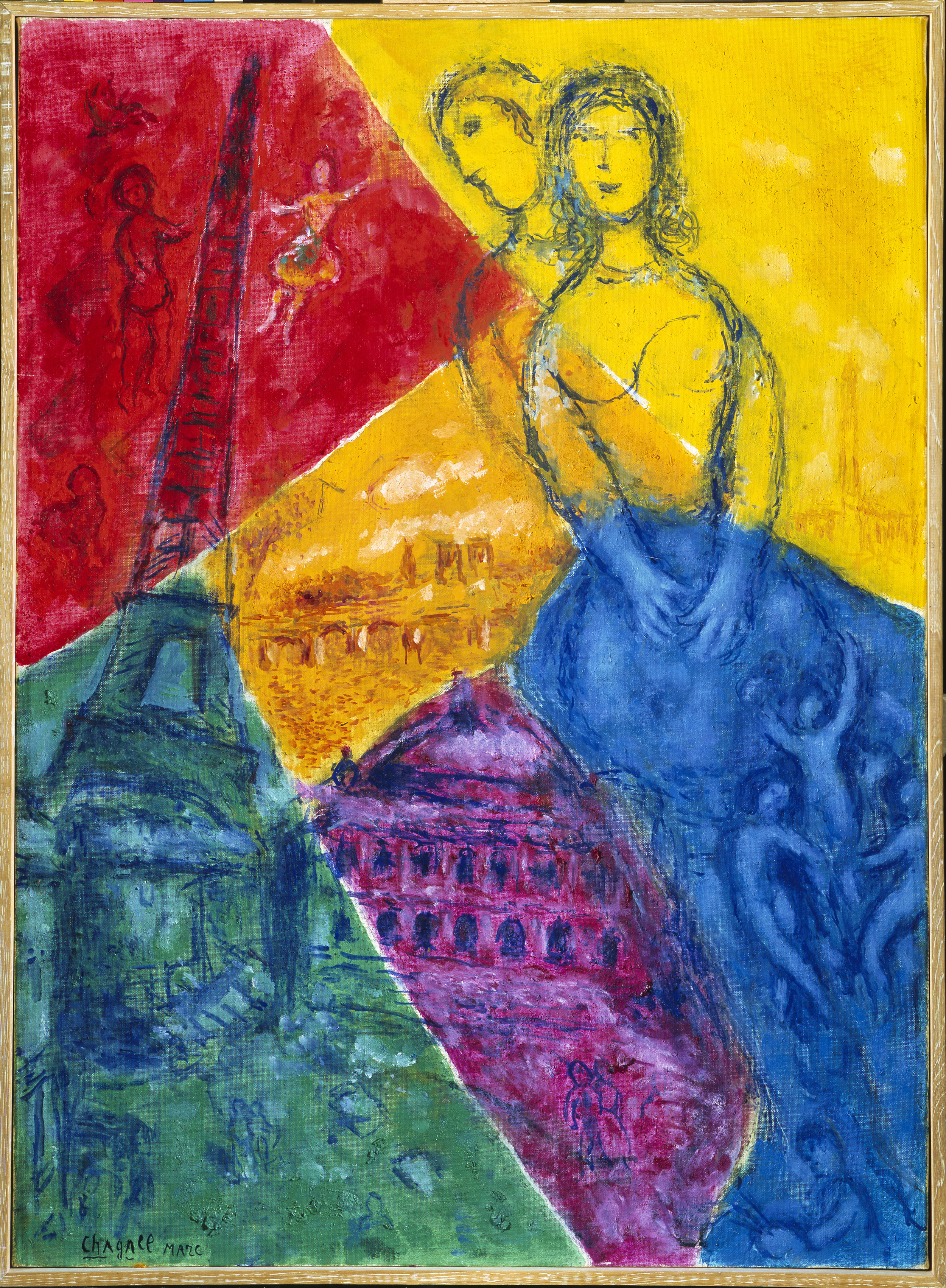 Marc Chagall (1887-1985)  Memories of Paris , 1976. Location : Private Collection. © 2018 Artists Rights Society (ARS), New York / ADAGP, Paris. Photo © Scala / Art Resource, NY.