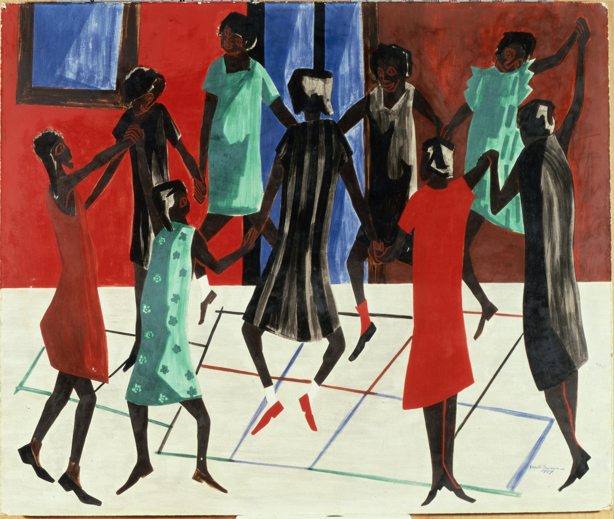 Jacob Lawrence, Children at Play, 1947 © 2018 The Jacob and Gwendolyn Knight Lawrence Foundation, Seattle / Artists Rights Society (ARS), New York