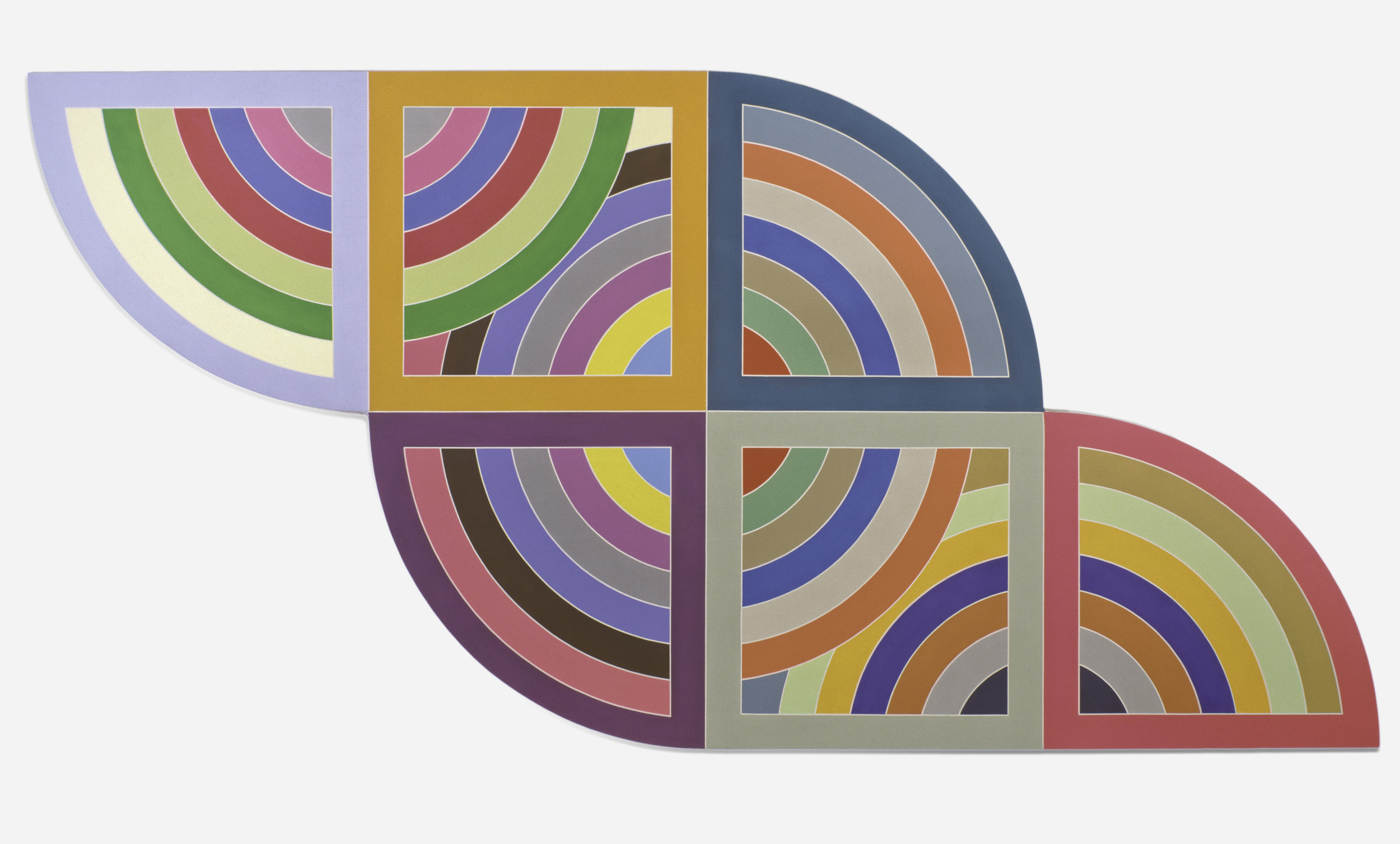 Frank Stella ,  Harran II , 1967 © 2018 Frank Stella / Artists Rights Society (ARS), New York