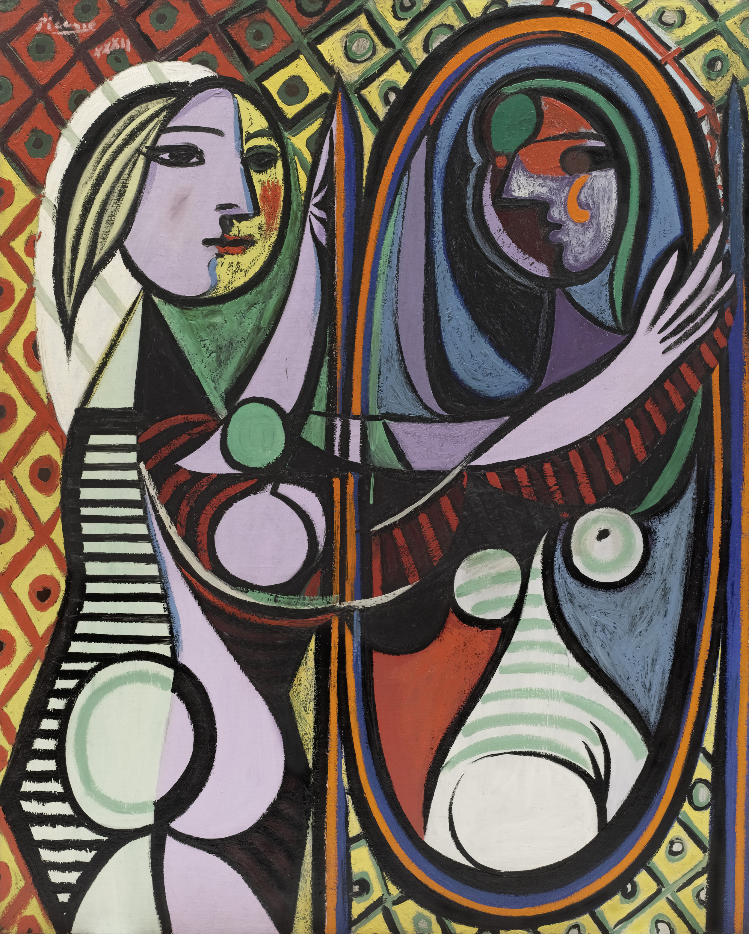Pablo Picasso ,  Girl before a Mirror , 1932 © 2018 Estate of Pablo Picasso / Artists Rights Society (ARS), New York