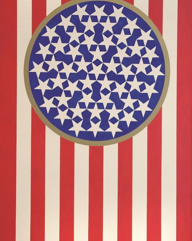 """Never was so much owed by so many to so few"" - Winston Churchill, 1940  To a belated #memorialday 🇺🇸 . . Robert Indiana, ""New Glory Banner."" © Morgan Art Foundation Ltd/ Artists Rights Society (ARS), NY. 2019 . .  #memorialday2019 #usa #usarmy #usanavy #usairforce #usamarines #gonebutnotforgotten #churchill #robertindiana #winstonchurchill #military #veterans"