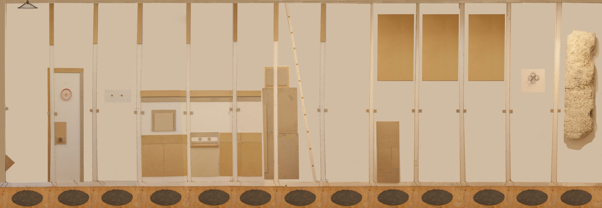 Composite photograph of studio installation