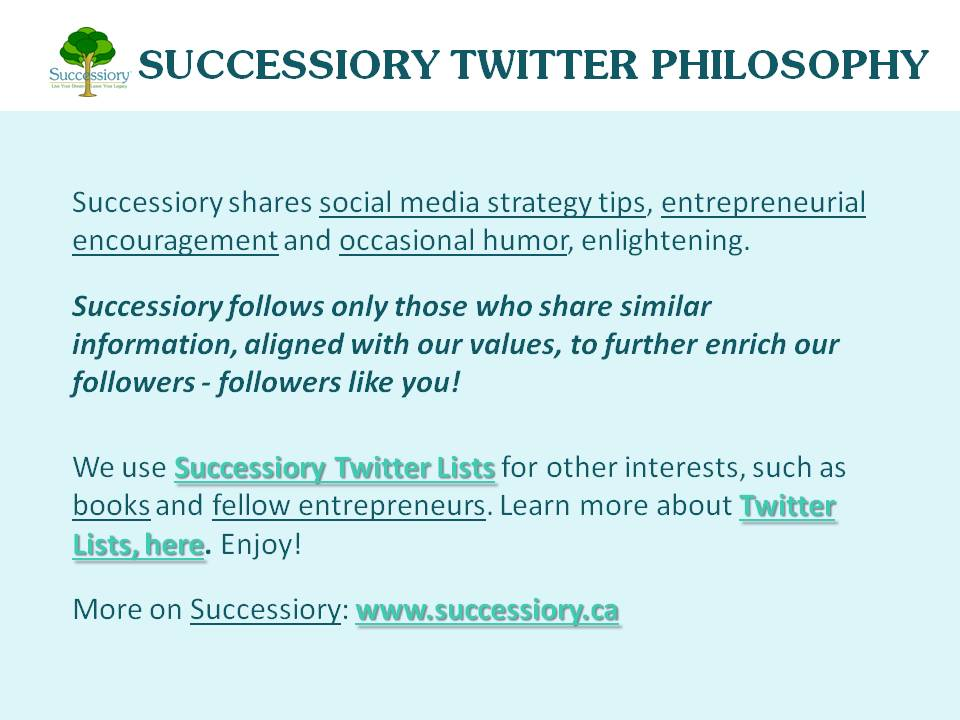 Successiory Twitter Philosophy