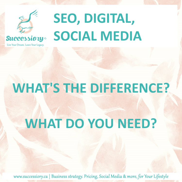 SEO, SocialMedia, Digital. What's the difference