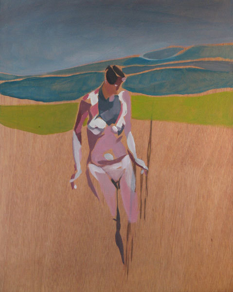 Naturist 12, 2012, Oil on wood, 15 x 12 in