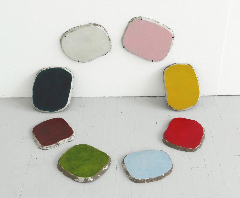 Concrete Colours, 2013, Concrete, acrylic paint and gloss, 85 x 58 x 46 cm
