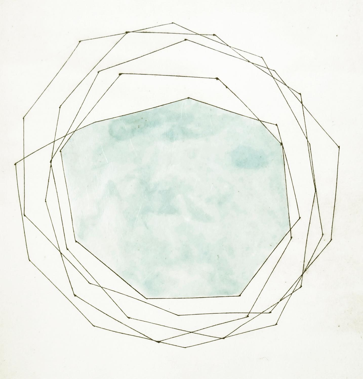 Blue Shape, 2012, Intaglio print on Somerset paper, 37 x 29 cm