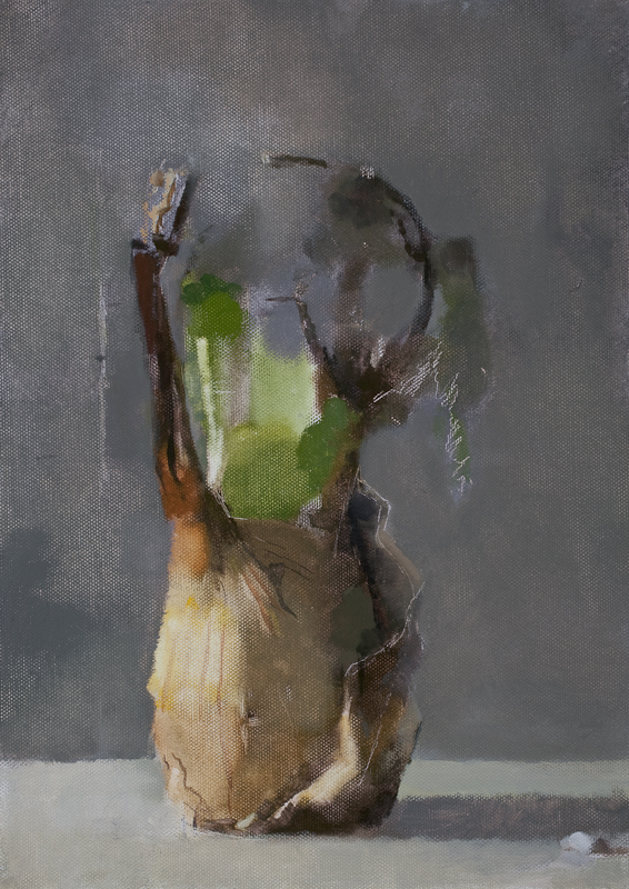 Untitled (Fe 30), 2009,Oil on canvas laid on board , 35.5 x 25.5 cm